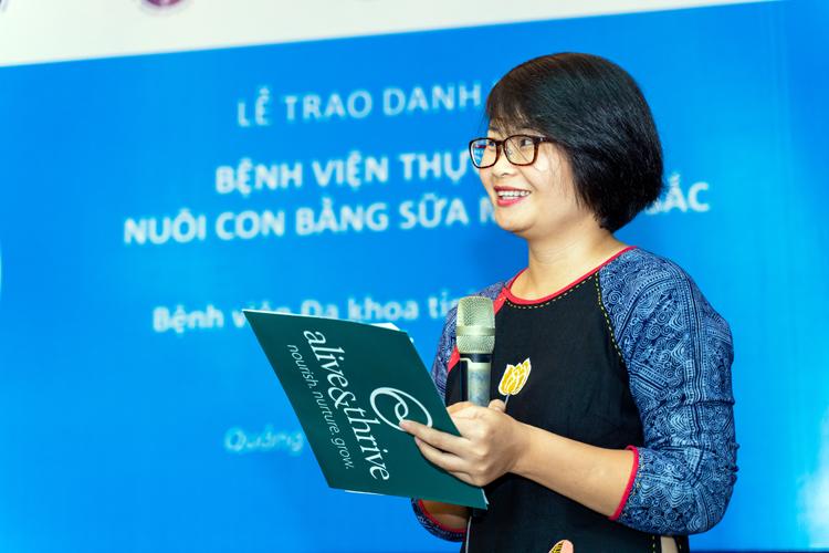 Bà Phan Thị Hồng Linh - Phó Giám đốc Alive & Thrive khu vực Đông Nam Á.