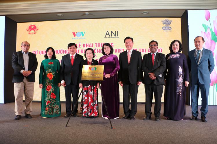 Các đại biểu tham dự Lễ khai trương Cơ quan thường trú Đài TNVN tại Ấn Độ.