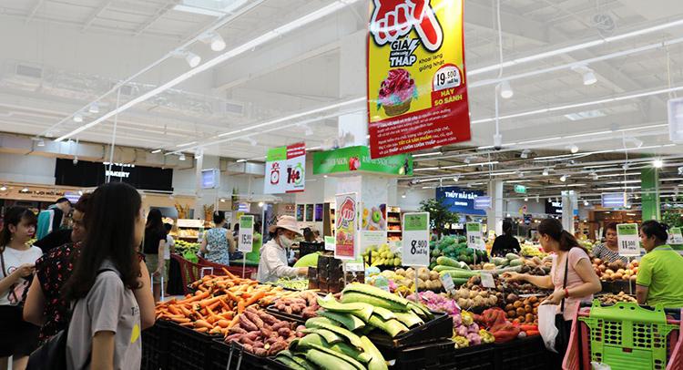 Rau củ quả được Big C chọn mua tại các vùng xung quanh địa điểm siêu thị hoạt động để hàng hóa luôn tươi ngon