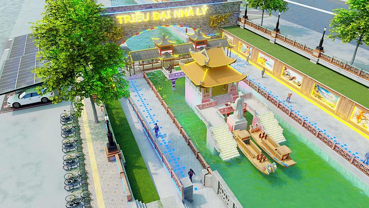Phối cảnh đề xuất cải tạo sông Tô Lịch thành  công viên lịch sử - văn hóa - tâm linh của JVE