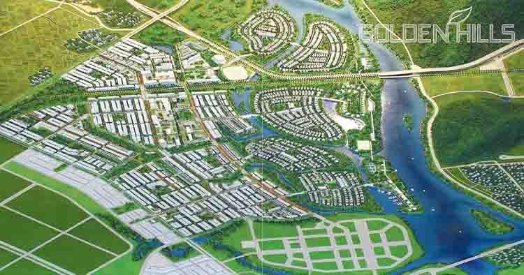 Phối cảnh Dự án Khu đô thị sinh thái Golden Hills - Đà Nẵng