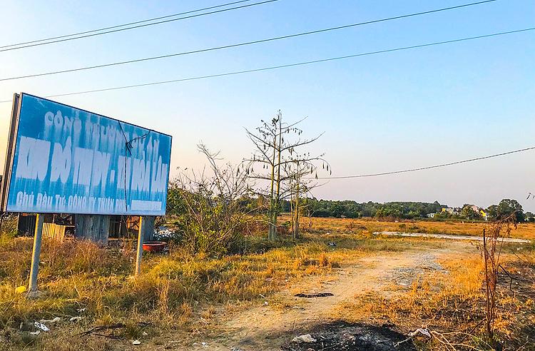 Khu đất thuộc dự án KDC Hòa Lân.
