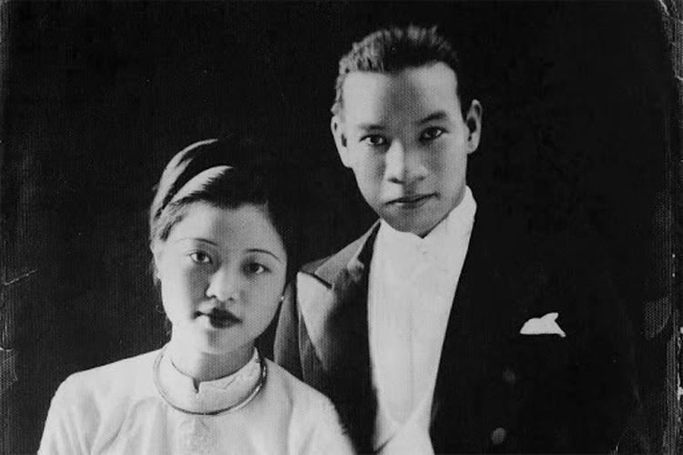 Chú rể Nguyễn Văn Huyên và cô dâu Vi Kim Ngọc. (Ảnh: KT)