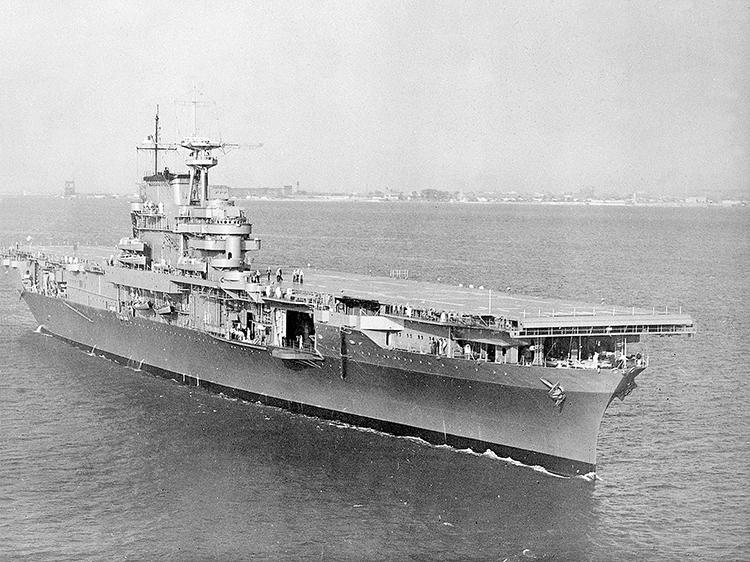 Tàu sân bay Mỹ USS Hornet đã được tìm thấy ở khu vực Thái Bình Dương sau 77 năm bị chìm (ảnh: internet)