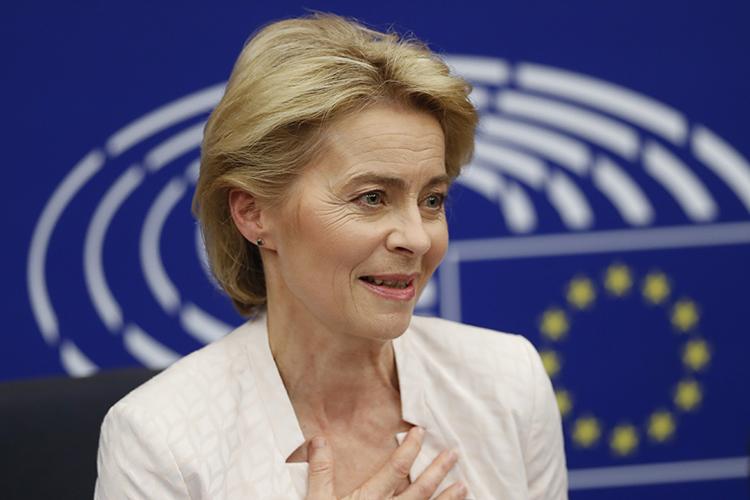 Bà Ursula von der Leyen trở thành nữ chủ tịch Uỷ ban châu Âu đầu tiên. (ảnh: KT)