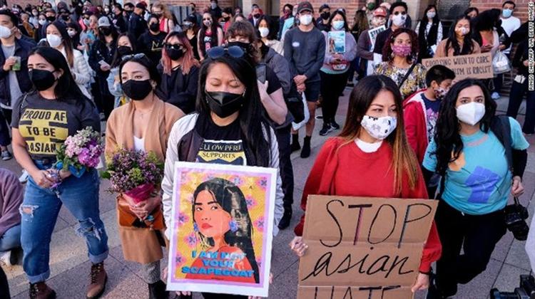 Người Mỹ gốc Á được báo cáo là nạn nhân của những vụ tấn công kỳ thị ít nhất 500 lần trong hai tháng đầu năm nay. (Ảnh: CNN)