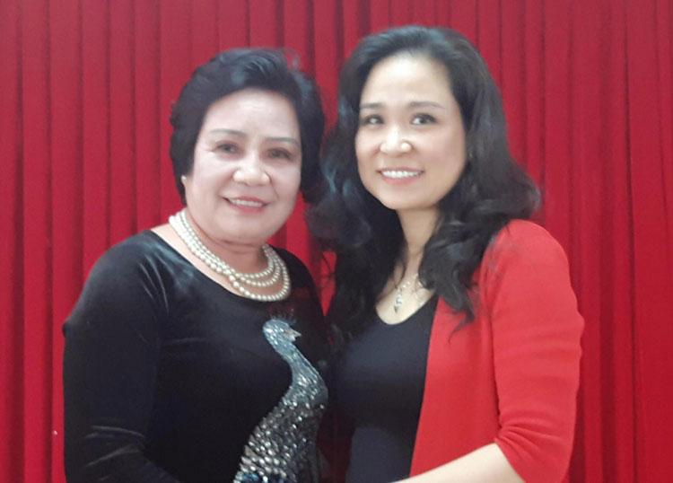 NSND Thúy Mơ và con gái - NSƯT Minh Phương.