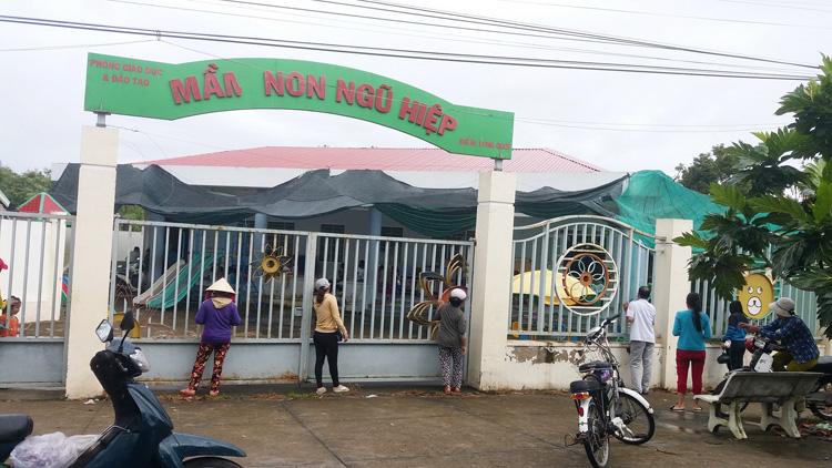 Hai phòng học Mầm non xây dựng khang trang trên phần đất do gia đình ông Dương Văn Đây hiến tặng.