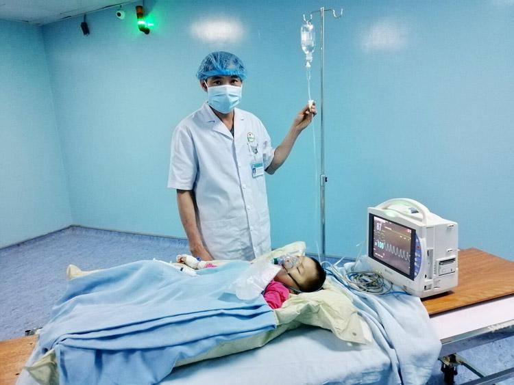Bệnh nhân được xạ trị trong 10 buổi, hàng ngày.