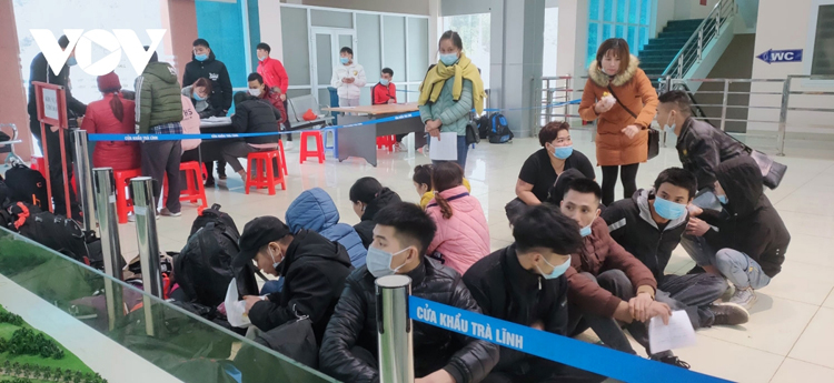 Đêm 4/1, Đồn Biên phòng Cửa khẩu Trà Lĩnh (BCH Bộ đội Biên phòng Cao Bằng) đã phát hiện, thu dung 170 công dân từ Trung Quốc trở về.