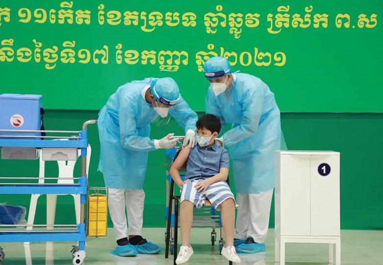 Campuchia có hơn 1,8 triệu trẻ em trong độ tuổi 6-12 sẽ được tiêm chủng bắt đầu từ ngày hôm nay.