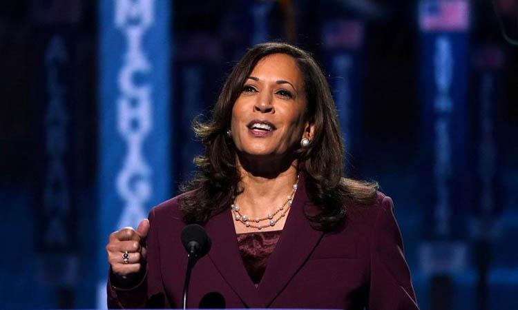 Kamala Harris phát biểu trong lễ nhận vai trò ứng viên đại diện đảng tranh cử phó tổng thống Mỹ tại Đại hội đảng Dân chủ ở Wilmington, Delaware, ngày 19/8. (Ảnh: Reuters)