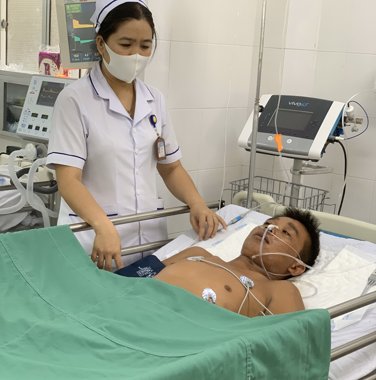 Sức khỏe bệnh nhân ổn định và được tiếp tục chăm sóc tại bệnh viện.