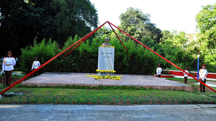 Tượng đài Chủ tịch Hồ Chí Minh tại trung tâm thủ đô La Habana của Cuba. (Ảnh: TTXVN)