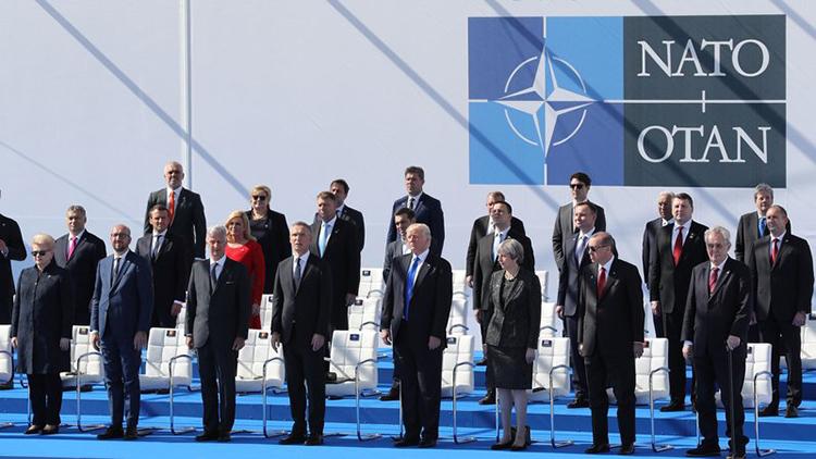 Các nhà lãnh đạo NATO tại hội nghị thượng định Brussels năm 2017 (Ảnh: rte.ie)