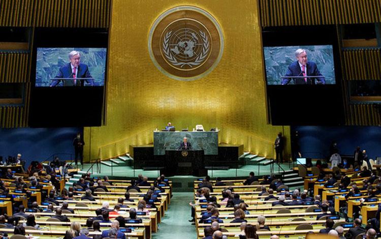 Phiên thảo luận chung cấp cao Khóa họp thứ 76 Đại hội đồng LHQ đã được khai mạc vào sáng ngày 21/9, tại trụ sở LHQ ở New York, Mỹ. (Nguồn: UN)