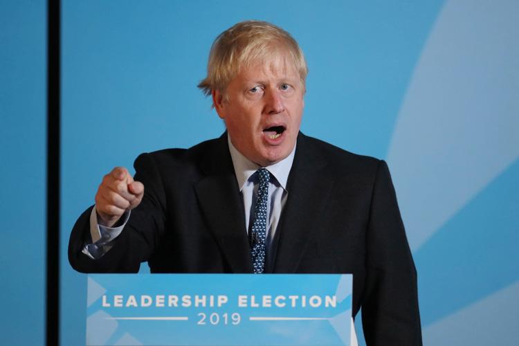 Ông Boris Johnson phát biểu tại London, Anh ngày 23/7, sau khi được bầu làm lãnh đạo mới của đảng Bảo thủ (Ảnh: KT)