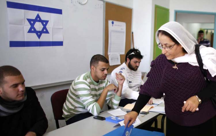 Cử tri Israel đi bỏ phiếu. (Ảnh: internet)