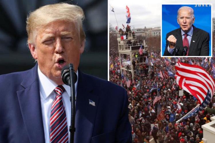 Ông Trump tuyên bố tình trạng khẩn cấp ở thủ đô Washington D.C trước lễ nhậm chức của Tổng thống đắc cử Joe Biden.(Ảnh: Global News Health)