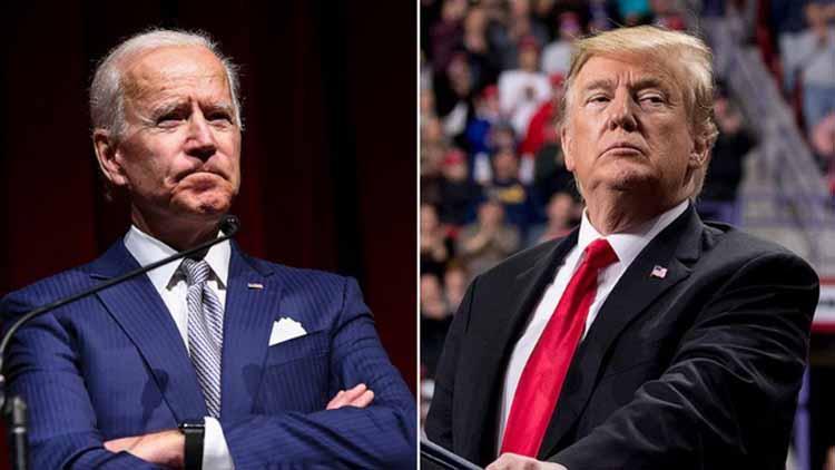 Tổng thống Mỹ Donald Trump (phải) và ứng viên tổng thống đảng Dân chủ Joe Biden (Ảnh: Getty)