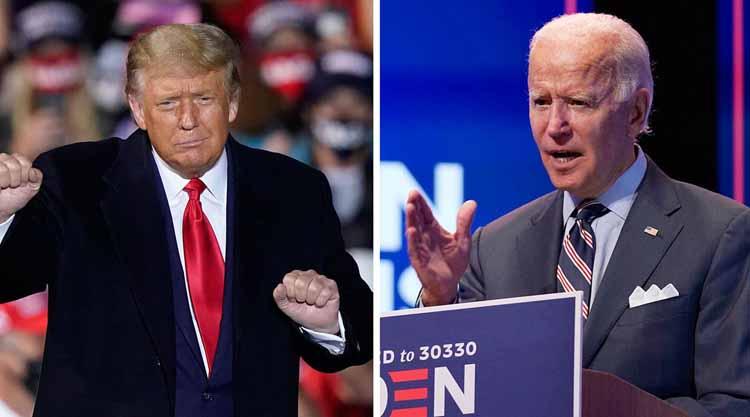 Tổng thống Mỹ Donald Trump và ứng viên tranh cử đảng Dân chủ Joe Biden. (Ảnh: AP)