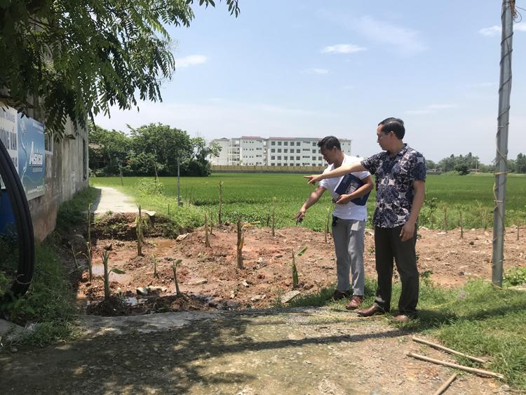 UBND xã Lũng Hòa buông lỏng quản lý đất đai để dân tự ý chuyển đổi mục đích sử dụng đất.