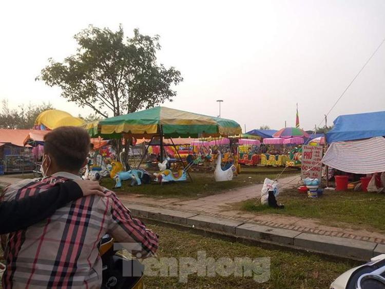 Đền Trần Thái Bình cũng vắng vẻ trong dịp lễ hội đầu xuân - Ảnh: Hoàng Long