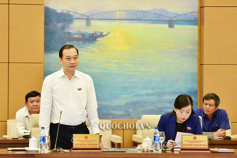 Chủ nhiệm Uỷ ban Kinh tế Vũ Hồng Thanh. Ảnh: Quochoi.vn