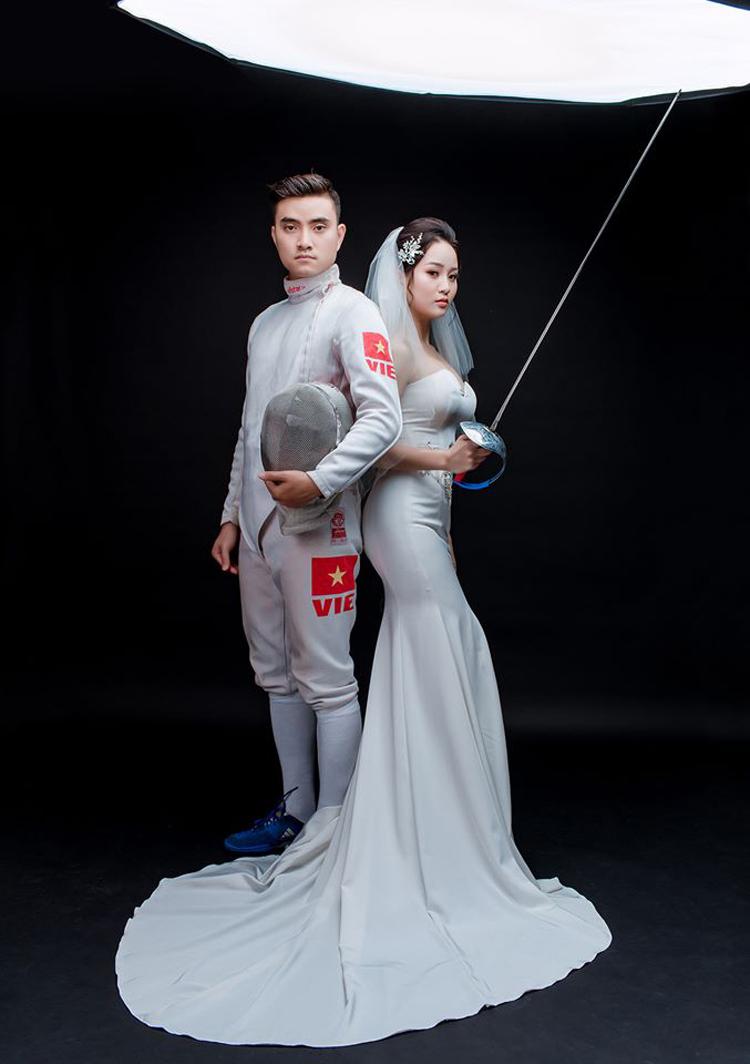 Thành An Anh may Thành An may mắn nhận được sự hỗ trợ đắc lực từ người vợ Tú Anh, từng là vận động viên bắn súng.