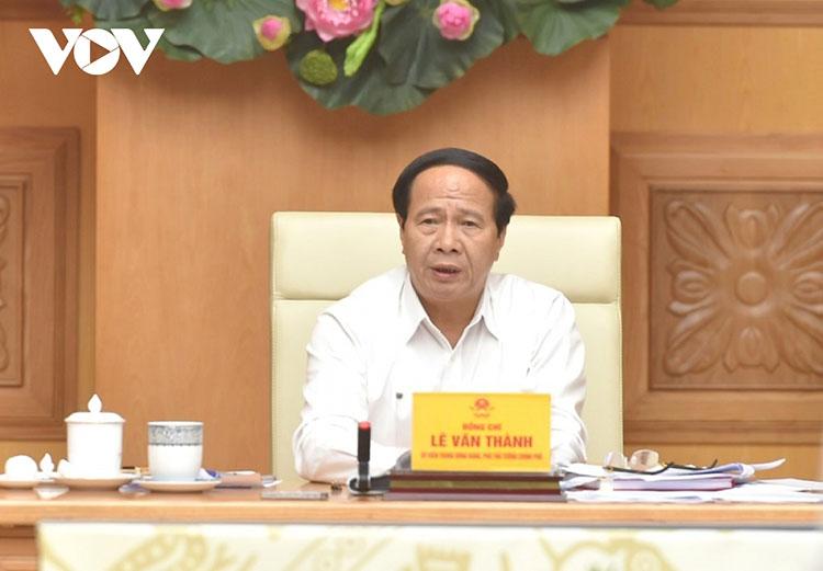 Phó Thủ tướng Lê Văn Thành phát biểu chỉ đạo hội nghị.