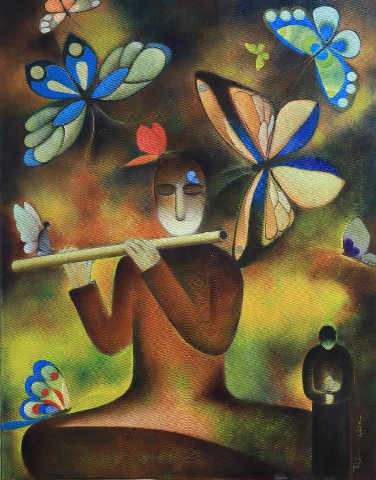 Nhà thơ Nguyễn Quang Thiều vẽ để thấy đời sống của mình dài rộng hơn