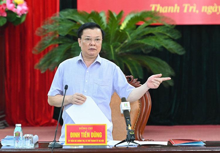 Bí thư Thành ủy Đinh Tiến Dũng tin tưởng Hà Nội sẽ đẩy lùi dịch bệnh.