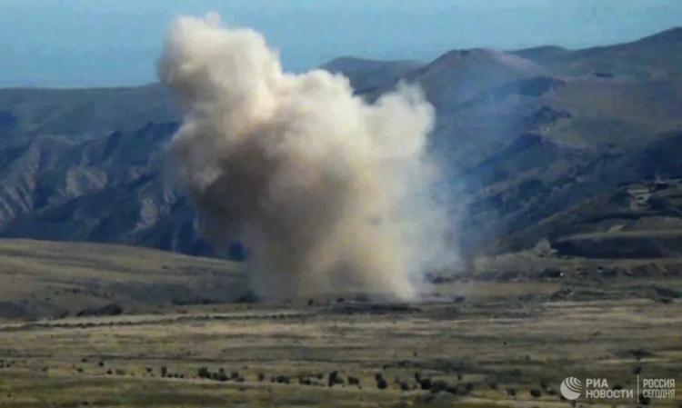 Xung đột ở khu vực Nagorno-Karabakh. Ảnh: RIA