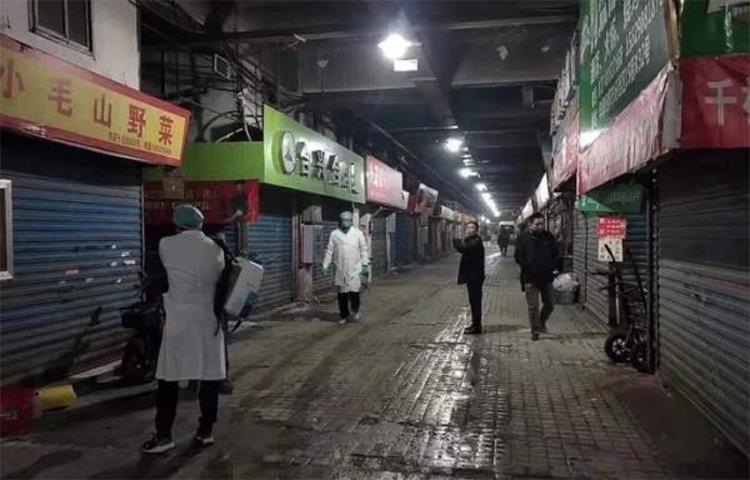 Khu chợ hải sản Hoa Nam, Vũ Hán nơi xuất hiện các trường hợp viêm phổi lạ.