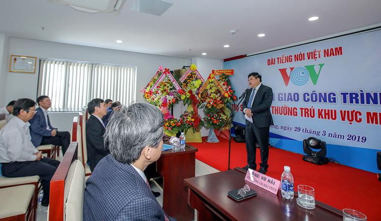 Tổng Giám đốc VOV Nguyễn Thế Kỷ phát biểu tại lễ bàn giao.
