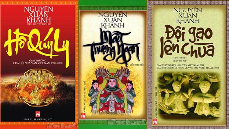 Bộ 3 cuốn tiểu thuyết về văn hoá lịch sử của nhà văn Nguyễn Xuân Khánh.