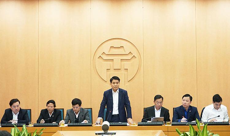 Chủ tịch TP Hà Nội Nguyễn Đức Chung họp Ban chỉ đạo phòng chống dịch bệnh viêm đường hô hấp cấp do chủng mới của virus corona (nCoV).