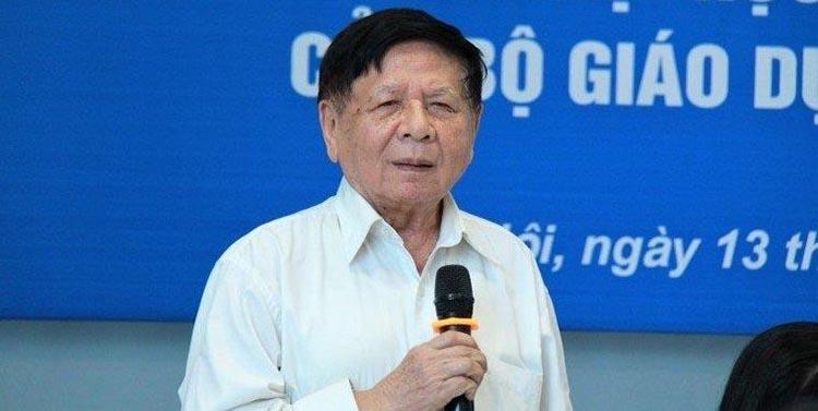 PGS.TS Trần Xuân Nhĩ cho rằng Bộ GD-ĐT nên tổ chức lại việc học trực tuyến. (Ảnh: VTC News)