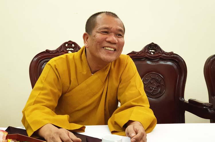 Thượng tọa Thích Đạo Hiển - Phó Viện trưởng Học viện Phật giáo Việt Nam tại Hà Nội.