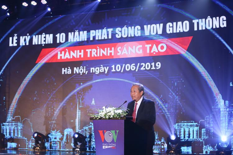 Ông Trương Hòa Bình Ủy viên Bộ Chính trị, Phó Thủ tướng Thường trực Chính phủ, Chủ tịch Ủy ban An toàn giao thông Quốc gia cho rằng: VOVGT có sức lan tỏa mạnh mẽ trong toàn xã hội.