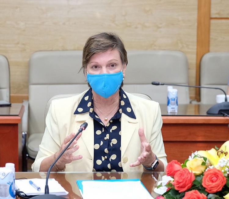 Trưởng đại diện UNICEF tại Việt Nam, bà Rana Flowers. (Ảnh: Trần Minh)