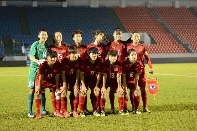 Ai cũng cháo hức chờ đợi Quốc ca Việt Nam được cất lên ở đấu trường World Cup nữ.