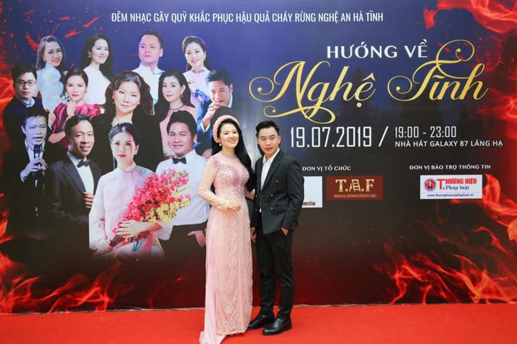 Thùy Dung tại điêm nhạc Hướng về Nghệ Tĩnh.