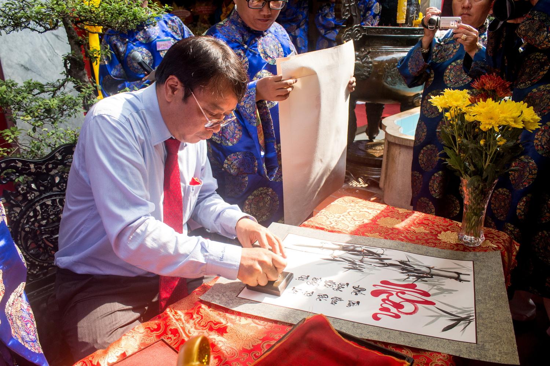 Ông Hoàng Song Hà, Chủ tịch UBND quận Bình Thạnh khai (TP HCM) khai ấn đầu năm.