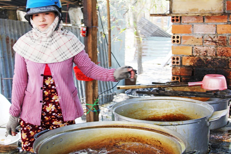 Làng nghề nấu đường xã An Phú huyện Tịnh Biên