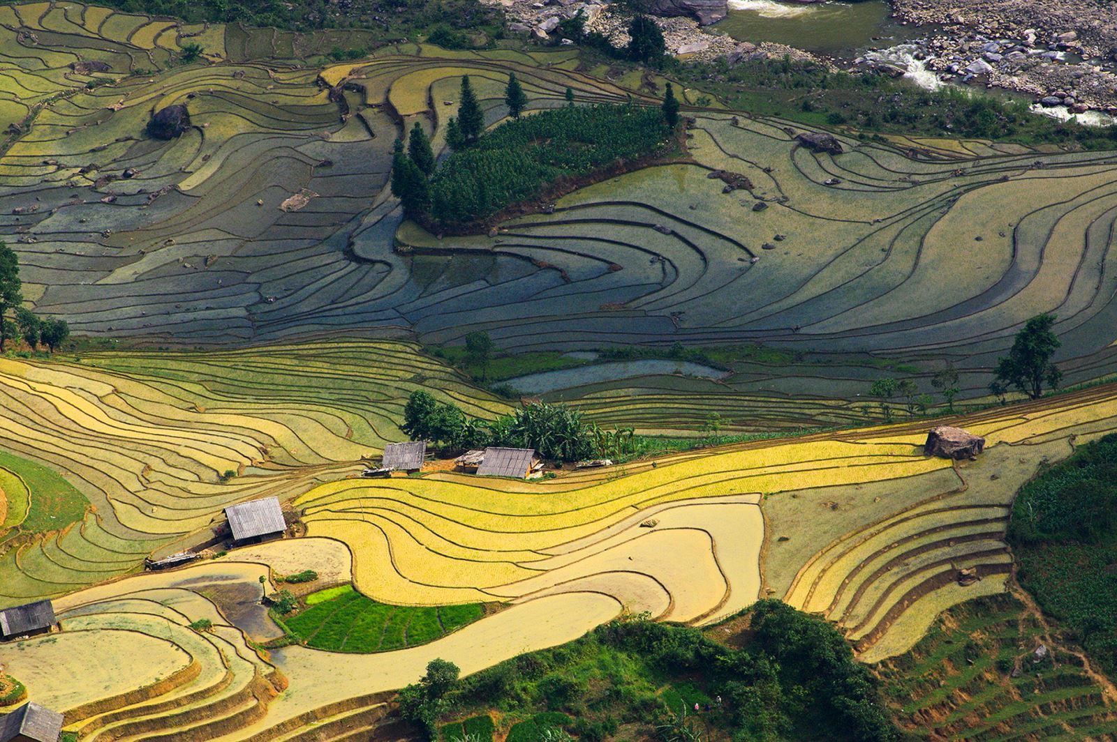 Bức họa đa màu sắc ở Thiên Sinh - Y Tý (Lào Cai).