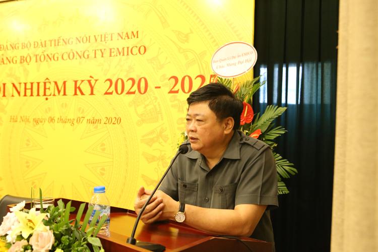 PGS.TS. Nguyễn Thế Kỷ - Ủy viên Trung Ương Đảng, Tổng Giám đốc Đài tiếng nói Việt Nam phát biểu tại Đại hội.