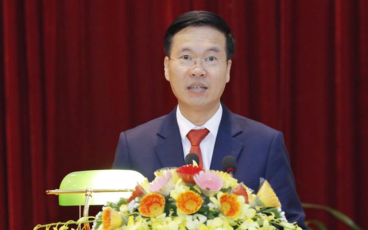 Ông Võ Văn Thưởng - Ủy viên Bộ Chính trị, Bí thư Trung ương Đảng, Trưởng Ban Tuyên giáo Trung ương.