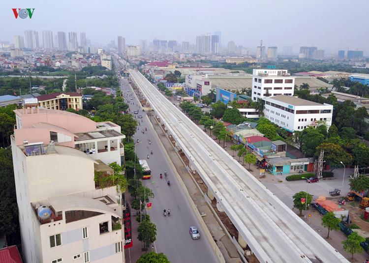 Dự án đường sắt đô ghị Nhổn - Ga Hà Nội dài 12,5 km đang bị chậm tiến độ.