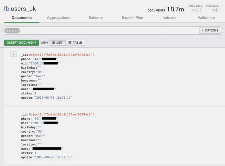 Tech Crunch kiểm tra, phát hiện dữ liệu người dùng Facebook lộ lọt là có thức và chính xác. (Ảnh: Tech Crunch).